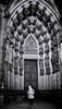 Mobile Portal (markus.homann) Tags: nikon streetphotography street monochrom blackandwhite white black portal cathedral koelnerdom cologne