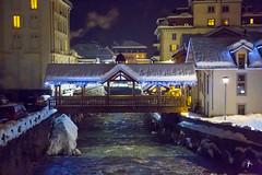 Chamonix by night sous la neige (patrickburtin) Tags: chamonix montagne neige arve