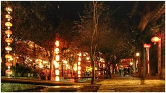 Lijiang at night (齐世文 - QSW) Tags: lijiang 丽江 中国 云南 yunnan china nightphoto night nikon water bridge lantern red longexposure lowlight tree house travel 旅游 nightimages themiddlekingdom