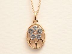 牡羊座モチーフのペンダント (jewelrycraft.kokura) Tags: アクアマリン ピンクゴールド 牡羊座 aries aquamarine