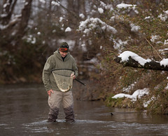 North Georgia Snow & Fly Fishing (DitchGyrl) Tags: 2017 cartecay ellijay fishing flyfish jason river snow december winter