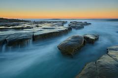 La Jolla Sunrise: 12/13/17 (tltichy) Tags: lajolla blue coast coastal hospitalreef longexposure ocean orange pacific sandiego seascape shore socal southerncalifornia sunrise