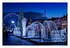 Illuminations - Clermont-Ferrand (BerColly) Tags: france auvergne puydedome clermontferrand ville town noel christmas illuminations plac jaude nuit night heurebleue bluehour bercolly google flickr