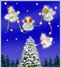 Sylvanian Families - Christmas Angels (Sylvanako) Tags: christmas card sylvanian wishing wishes magical christmastree tree angel angels star bright