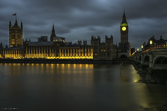 Houses of Parliament (courtney_meier) Tags: bigben england housesofparliament london parliament riverthames thethames unitedkingdom westminsterbridge bluehour city clouds evening gothic highgothic history lights longexposure river urban water