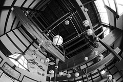 It looks like a Christmas decoration (petrwag) Tags: sony a6500 samyang 8 fisheye bw blackandwhite blancoynegro blackwhite noiretblanc noirblanc nihon nippon japan japón japon