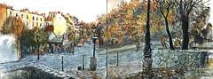 Les vignes de Montmartre (C.PARR) Tags: aquarelle urban sketch paris panorama parrini