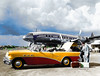 Cubana Airlines Buick  Colorized (gdmey) Tags: buick classiccars classic constellation lockheed aircraft colorized