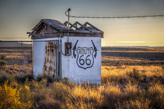 Late Afternoon Route 66 (donnieking1811) Tags: arizona twoguns route66 building afternoon goldenhour weeds grass sky shadows hdr canon 60d lightroom photomatixpro unlimitedphotos