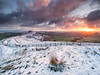 Winter sunrise on the ridge (Stephen Elliott Photography) Tags: peakdistrict derbyshire hopevalley castleton mam tor sunrise dawn olympus em1 714mm kase filters