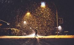 Blizzard (Tim RT) Tags: tim rt reutlingen germany deutschland snow blizzard snowflakes hard conditions people walk way street light night cars yellow white nature outdoor love new picture 2017 like flickr visual inspired hypebeast sot high iso prime lens tamron35mm di vc usd f18 schnee sturm canon 6d 6d2 6dmk2 mark ii 2