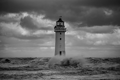 Splash (A Crowe Photography) Tags: newbrightonlighthouse newbrighton blackandwhite bw blackwhite seaside sea seascape lighthouse