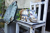 Backstreet Nekobasu (Eric Flexyourhead) Tags: naramachi nara narashi 奈良市 kansai 関西地方 japan 日本 city urban backstreet detail fragment catbus nekobasu nekonobasu ねこのバス myneighbortotoro となりのトトロ studioghibli 株式会社スタジオジブリ planter chair restaurant café shop ricohgr
