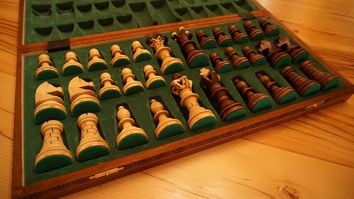 Jack's lovely handmade chess set.