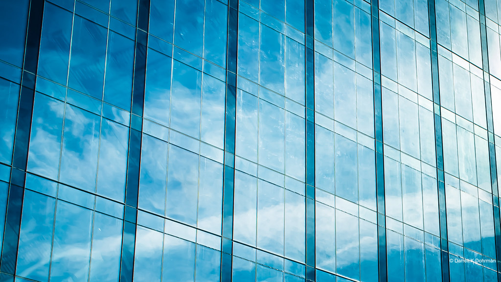 28ecc08d4d6 Abstract Glass Architecture (DaxxKD) Tags  glass clouds sky blue white  lines reflection abstract