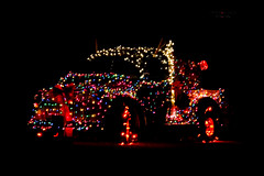 *** (mariola aga) Tags: night xmas lights decoration car pickup black dark darkness handheld thegalaxy
