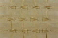 Epiphany Tessellation (Michał Kosmulski) Tags: origami tessellation ☄ epiphany feastofepiphany starofbethlehem comet shootingstar meteor fireball bolide wetfolding michałkosmulski gampipaper yellow beige