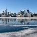 Toronto harbour turned a massive skating rink!