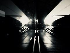 Always The Sun (sjpowermac) Tags: alwaysthesun reflection sunset lines merging 1b21 bokeh sun rails waitingroom dust canopy