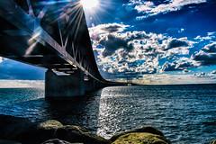 Öresundsbron (Maria Eklind) Tags: malmöoutdoor öresundsbron swedeen bro öresund water himmel sweden architecture sky sea malmö bridge burning skånelän sverige se