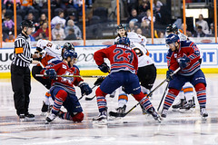"""Kansas City Mavericks vs. Kalamazoo Wings, January 5, 2018, Silverstein Eye Centers Arena, Independence, Missouri.  Photo: © John Howe / Howe Creative Photography, all rights reserved 2018. • <a style=""""font-size:0.8em;"""" href=""""http://www.flickr.com/photos/134016632@N02/38681933395/"""" target=""""_blank"""">View on Flickr</a>"""