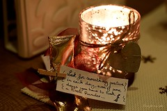 From old to new... (Maria Godfrida) Tags: smileonsatuday fromoldtonew light quote candleholder tealightholder tealight closeup tablesetting 7dwf crazytuesdaytheme newpurposes