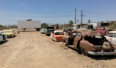 Bombay Beach Drive-In (cowyeow) Tags: abandoned saltonsea beach old forgotten deserted desert california usa america bombaybeach ruins car cars retro vintage rust rusted trashed garbage art folkart display drivein theater theatre cinema movies linedup carlot funny odd weird