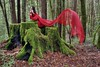 I wish I could fly high into the sky (PeterThoeny) Tags: santacruz bouldercreek california sanfranciscobay sanfranciscobayarea bigbasinredwoodsstatepark bigbasin statepark redwoods forest tree treetrunk trunk moss portrait person woman model outdoor art surreal dress reddress fabric redfabric lining redlining scarf day wave red green sony sonya7 a7 a7ii a7mii alpha7mii ilce7m2 fullframe fe2870mmf3556oss 1xp raw photomatix hdr qualityhdr qualityhdrphotography wood fav200