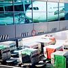 baggage below (khrawlings) Tags: airport aeroplane airplane reflection gate rome baggage carriers fiumicino leonarodavinci trolleys alitalia