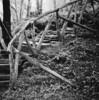 Stairway to.....music (Jan Zielinski) Tags: bergen hordaland rain mediumformat film fuji fujireala kodaktmax kiev88 russiancamera bw blackandwhite forest