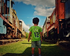 We are 12 (Mister Blur) Tags: 12 museo ferrocarriles mérida trains museum low perspective child alive weare12 gohawks fan seattle seahawks