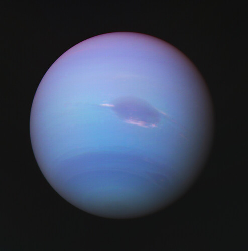 Visible Neptune 1989-08-17