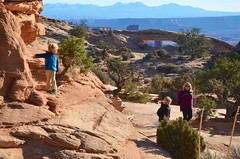 Near Mesa Arch (Joe Shlabotnik) Tags: november2017 violet 2017 sue canyonlandsnationalpark proudparents nationalpark utah everett arch canyonlands mesaarch afsdxvrzoomnikkor18105mmf3556ged