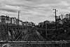 Solitude (VincentS.) Tags: toulouse gare matabiau voies train sncf nikon ciel noir et blanc black white maisons câbles nikkor pont grève