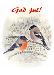 God jul! (Krogen) Tags: norge norway norwegen akershus romerike ullensaker jessheim akvarell aquarell