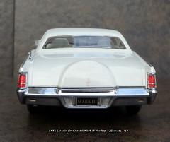 1971 Lincoln Continental Mark III Hardtop (JCarnutz) Tags: 124scale resincast automodello 1971 lincoln continental markiii