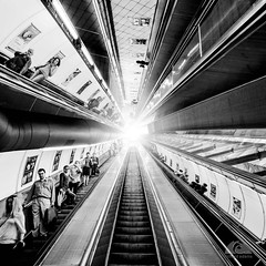 Movanator (Richard Adams Photography) Tags: photographyasart blackandwhite people abstract bw monochrome ceiling publictransportation