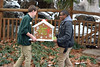 Take a House for a Walk (MTSOfan) Tags: epz staff gingerbreadhouse christmastime gingerbread display walk transport carry