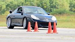 Silky-smooth Porsche on course (R.A. Killmer) Tags: autocross porsche sportscar fast race racer racing course cone cumberland cumberlandairportautocross horsepower german drive skill