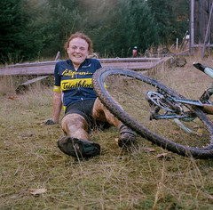 Rivercity Cycles Cyclocross, Barton Park (c_young_pdx) Tags: yashicamat tlr portra400 cyclocross stranger oregon obra bartonpark