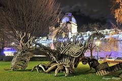 Les Flottins (joménager) Tags: nikond3 nuit lefabuleuxvillage lesflottins sculpture nikonpassion nikonafs24120f4 poselongue boisflotté evianlesbains night évènementfête thononlesbains hautesavoie france fr