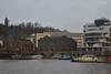 Harbourside (RCS-photography) Tags: supension bridge bristol boats birds sea water docks harbourside harbour trains photography black white landscape