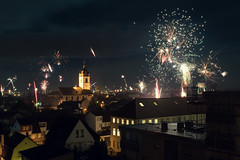 Silvester 2018 (zacken200) Tags: feuerwerk fireworks silvester chruch city grosgerau hesse germany hessen nacht night urban architektur neu jahr year new light cityscape skyline house party nikon d3300 sky licht feier outdoor
