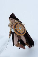 Arhian on the Run (edwicks_toybox) Tags: 16scale tbleague arhian blonde executivereplicas femaleactionfigure phicen sword warrior