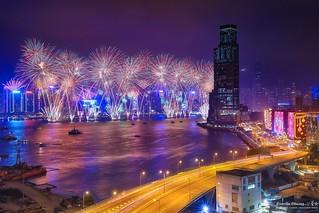 Hong Kong 2018 Fireworks ~香港2018跨年煙火