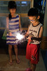 Sparkler time (Stinkee Beek) Tags: ethan erin sparklers