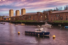 Pann's Bank Boats (robinta) Tags: boats water harbour river sunderland england ngc pentaxart longexposure marina city urban cityscape sky dusk sunset architecture pentax sigma ks1 sigma1770 colour colors