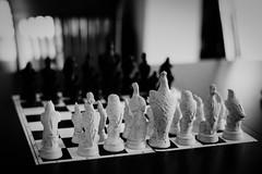 Chess (chrism229) Tags: leicam2 summilux50mmf14asph ilfordxp2super ilfordilfotechc hasselbladx1 film monochrome blackandwhite 35mm pushprocess