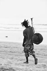 The Kora Player! (Nina_Ali) Tags: 7dwf monochrome blackandwhite kora musician thegambia africa afrique travelphotography westafrica ninaali