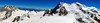 Panorama Mont Blanc massif. Aiguille du Midi. Chamonix. (elsa11) Tags: montblancmassif aiguilledumidi montblancdutacul montmaudit montblanc domedugouter hautesavoie rhonealps france frankrijk mountains alps alpen gletscher gletsjer glacier snow sneeuw panorama